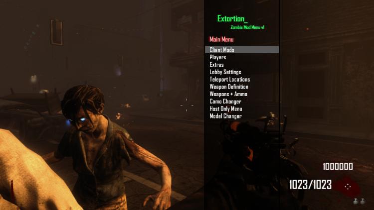 Mod Menu Zombie BO2 Extortion pour PS3 DEX | Console X