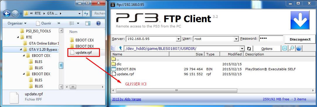 Connecter votre PS3 en FTP pour ajouter, remplacer ou