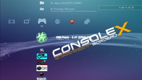 Installer un PKG sur PS3 CFW CEX ou DEX   Console X